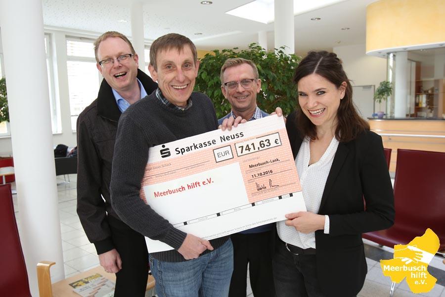 Erfolgreicher Meerbuscher Gesundheitstag mit schönem Ergebnis: 741,63 Euro Spende an 'Meerbusch hilft'