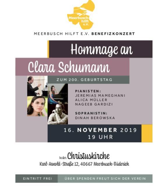 Benefizkonzert – Hommage an Clara Schumann