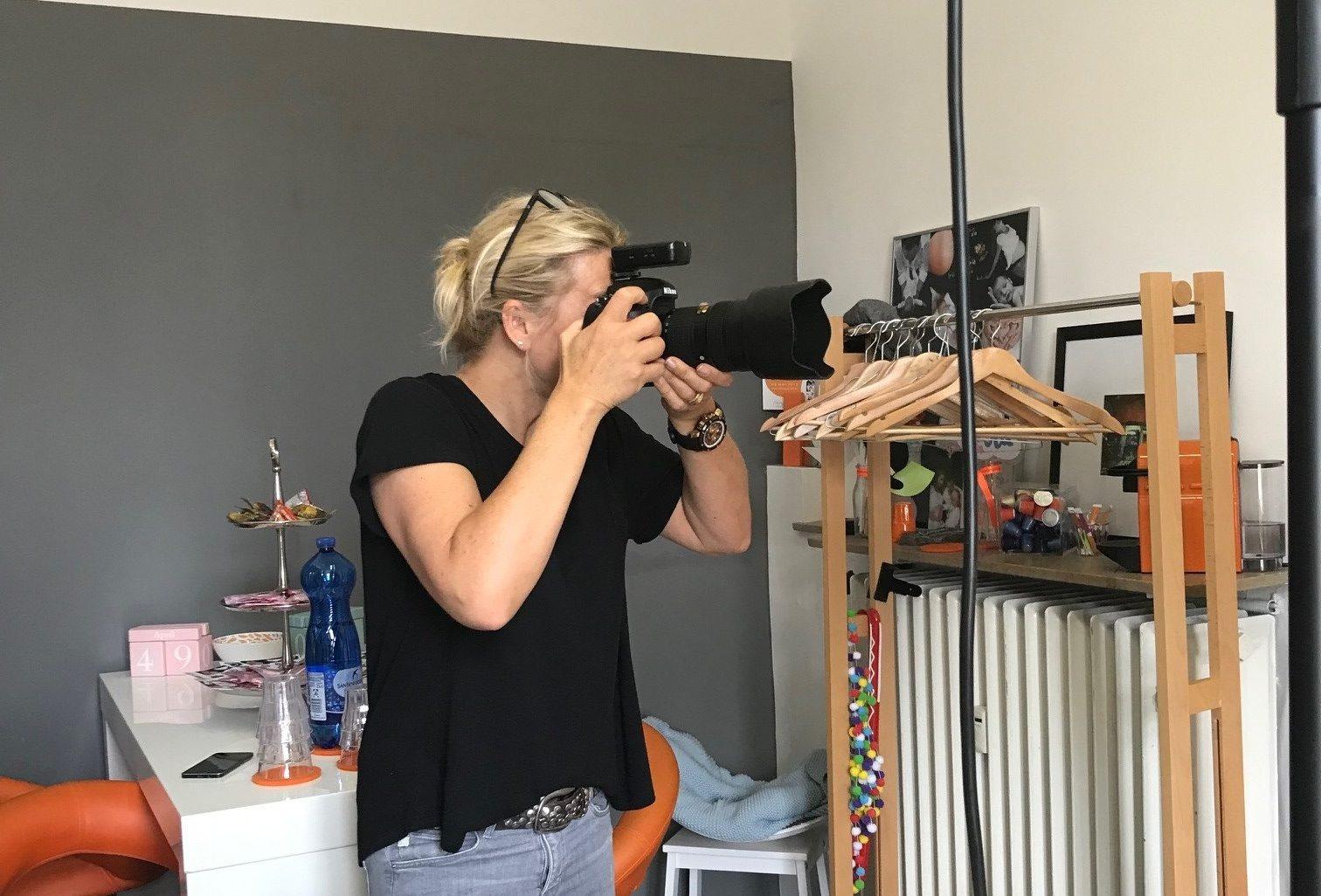 Vorstands-Fotoshooting mit Sandra Sperlinger